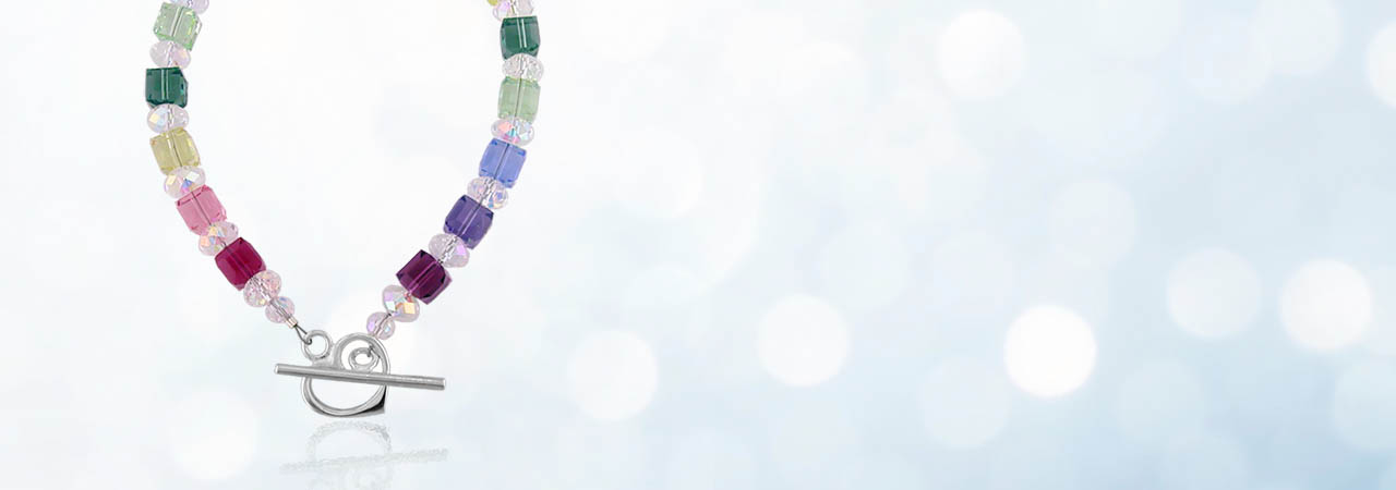 Swarovski Crystal Cube Bracelet