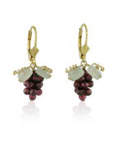 Garnet Grape Leverback Earrings