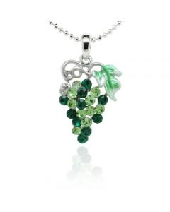 Green Crystal Grape Pendant