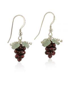 Garnet Grape Earrings