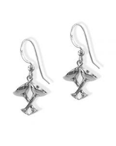 Double Wine Glasses Earrings - Sterling Silver