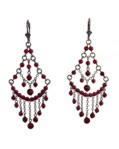 Victorian Genuine Garnet Chandelier Earrings