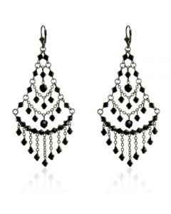 Victorian Jet Chandelier Earrings