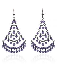 Victorian Tanzanite Chandelier Earrings