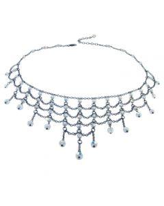 Victorian Crystal Bib Necklace